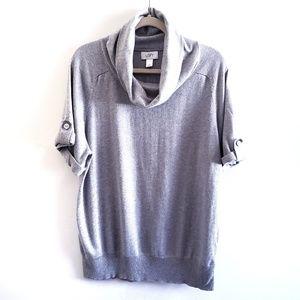 ANN TAYLOR LOFT Gray Cowl Neck Sweater XL